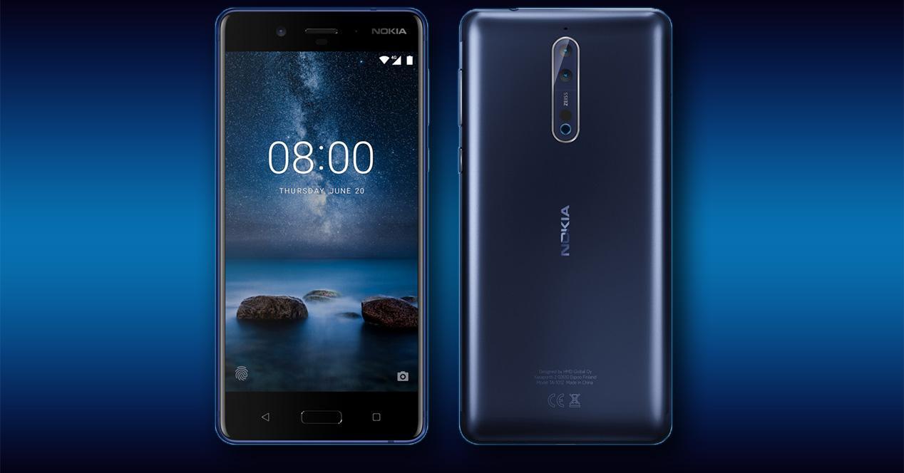 Diseño definitivo del Nokia 8 con Android O de serie