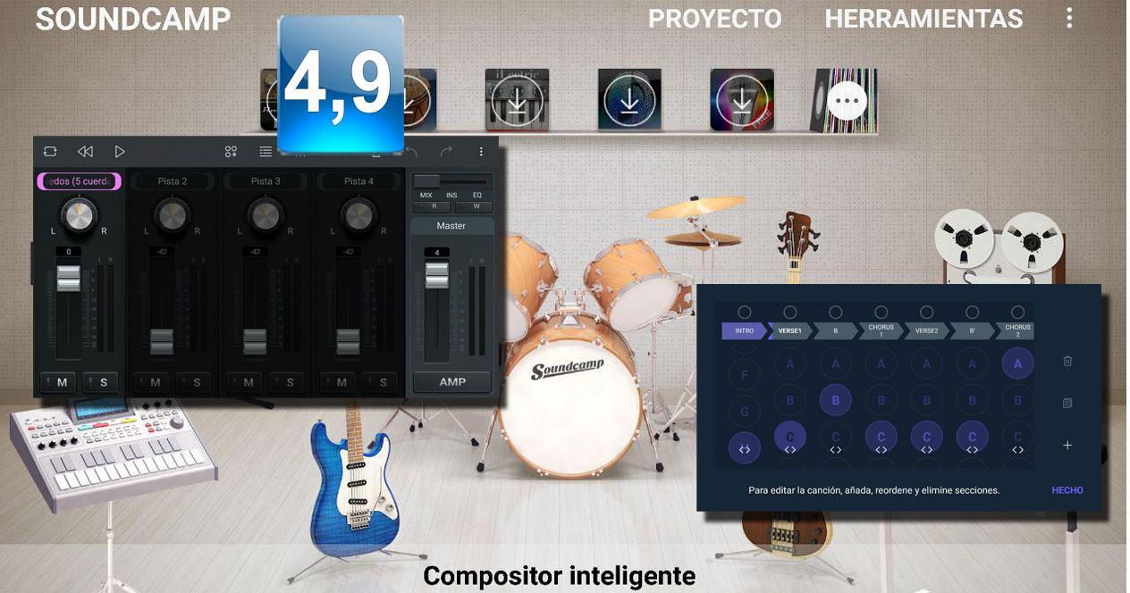 Aplicación Soundcamp