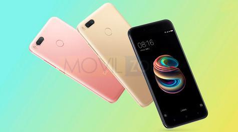 Xiaomi Mi 5X rosa, dorado y negro