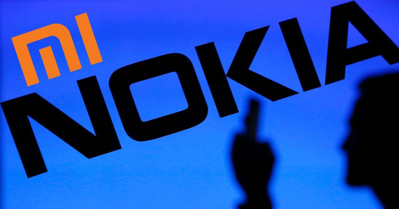 Logo de Nokia con Xiaomi