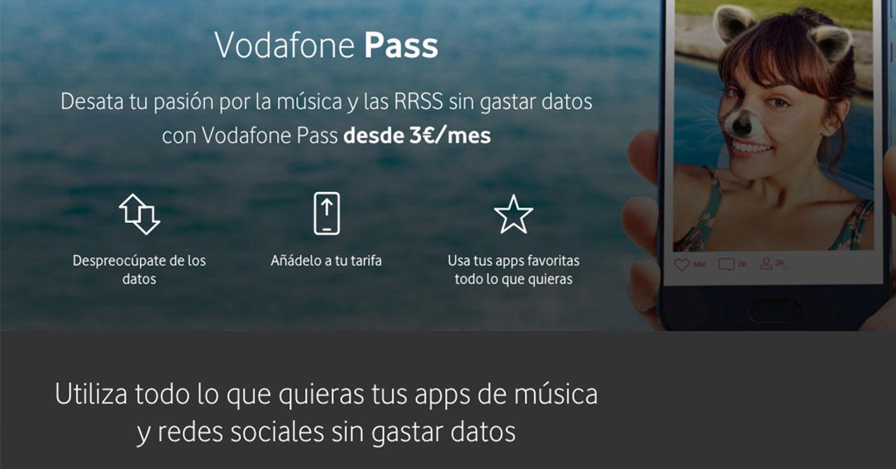 vodafone pass web