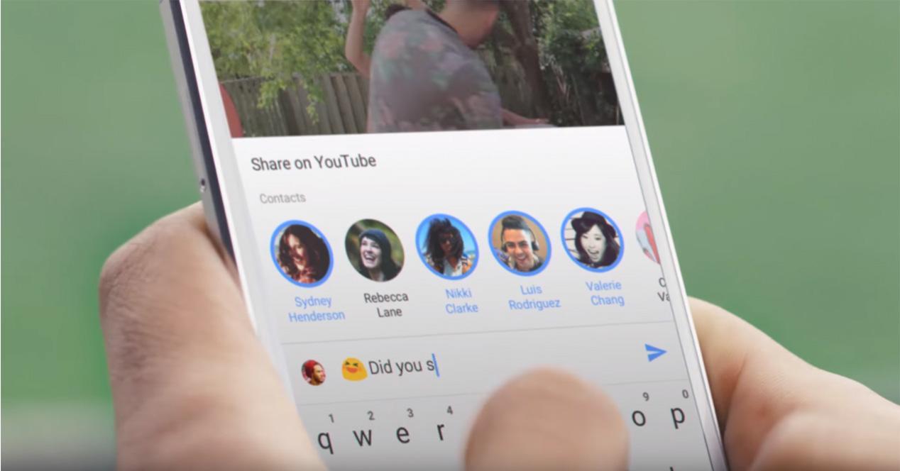 Chat de YouTube integrado en la nueva función compartir vídeo