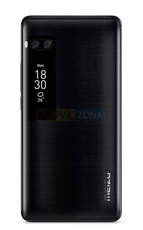 Meizu PRO 7 Plus doble pantalla vista trasera color negro