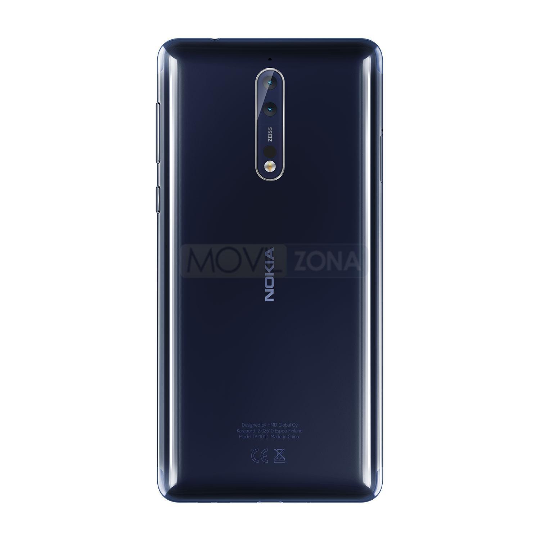 Nokia 8 azul vista trasera