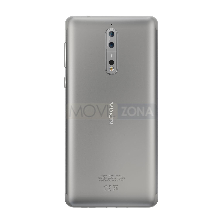 Nokia 8 gris vista trasera