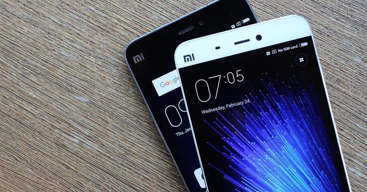 Smartphones Xiaomi con MIUI