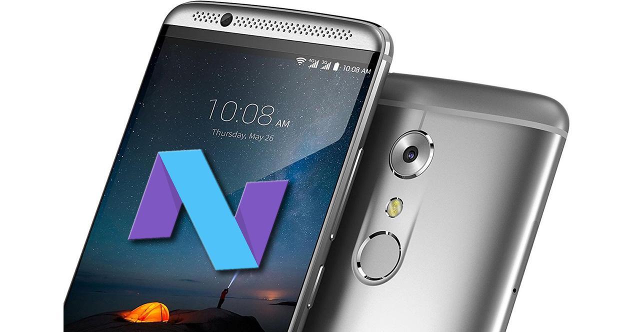 ZTE Axon 7 con Android Nougat
