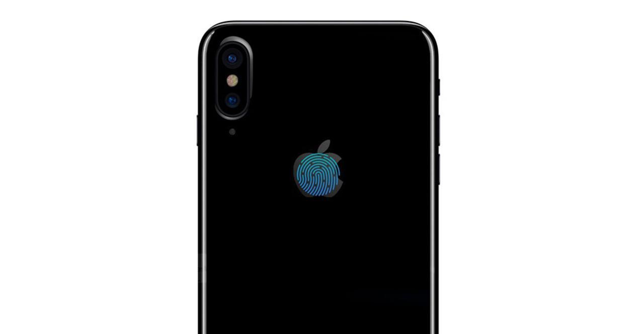 iPhone 8 con Touch ID en el logo de Apple