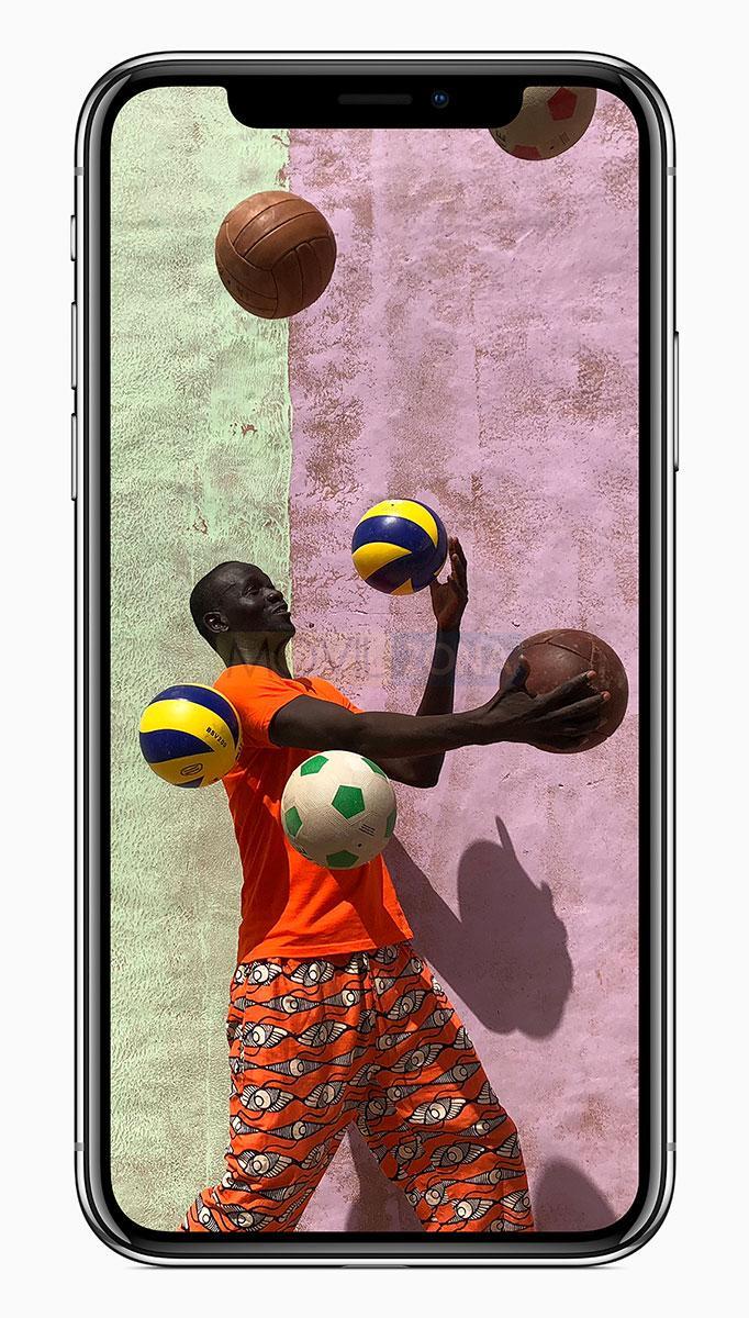 Apple iPhone X con jugador de baloncesto