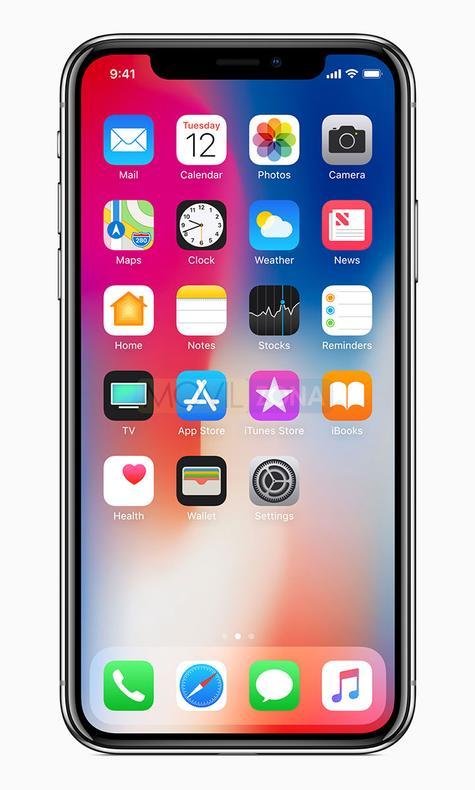 Apple iPhone X vista frontal