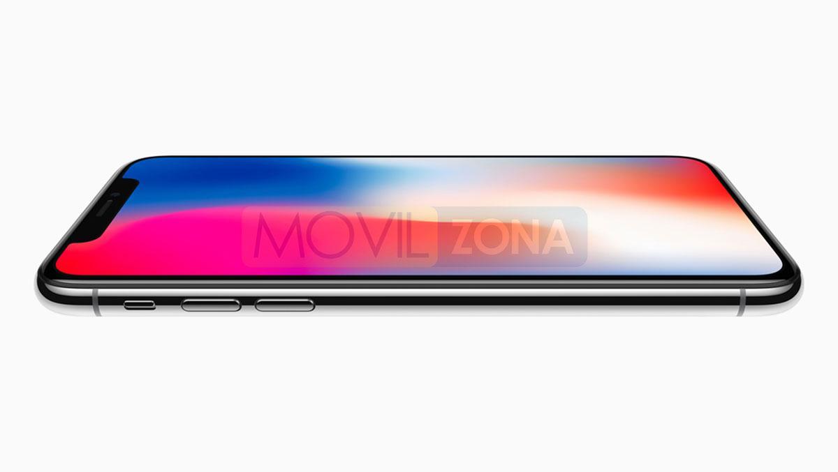Apple iPhone X vista de perfil