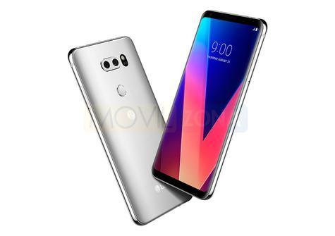 LG V30 negro y plateado