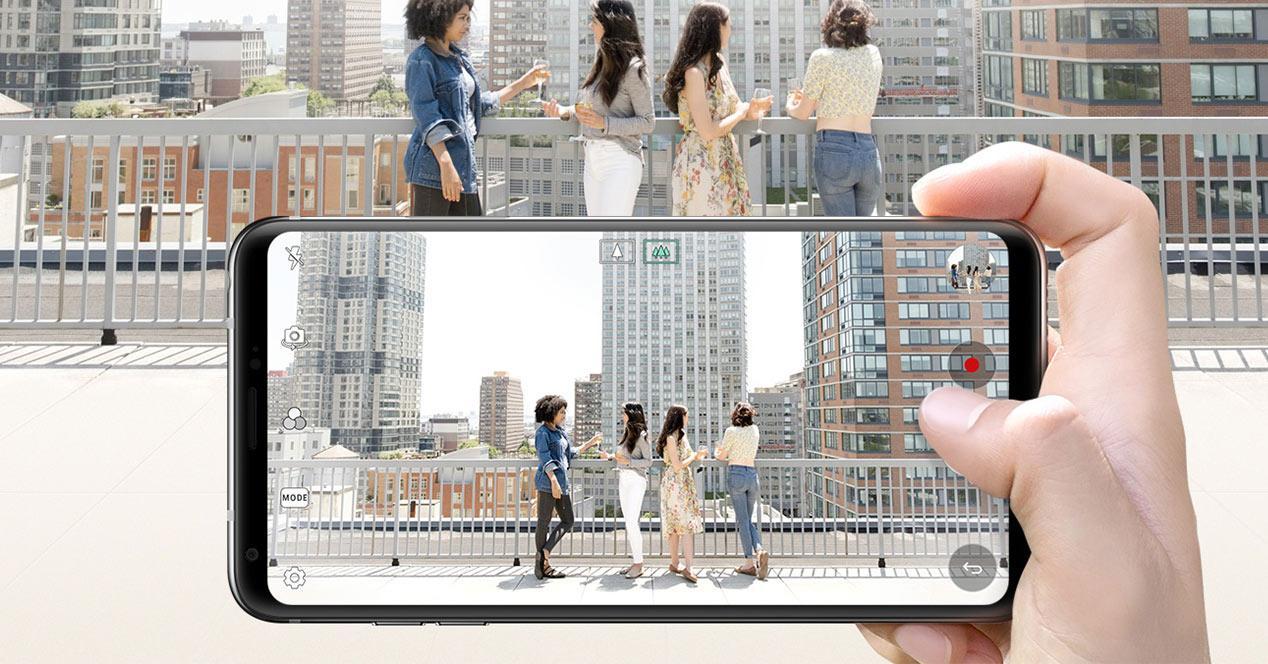 Toma de una foto con la doble cámara del LG V30