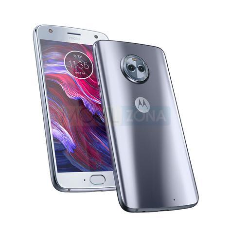 Motorola X4 plata vista delantera y trasera