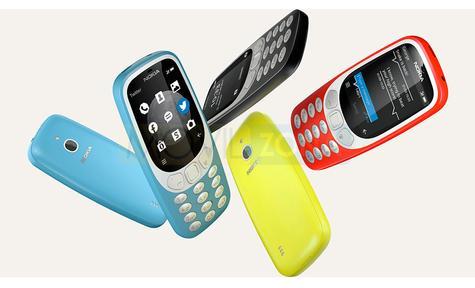 Nokia 3310 3G amarillo, azul, negro y rojo