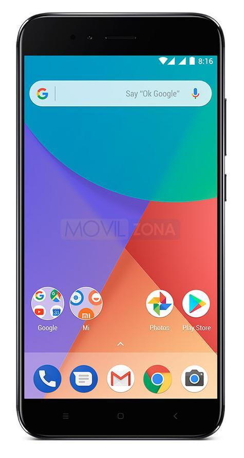 Xiaomi MI A1 frontal en color negro