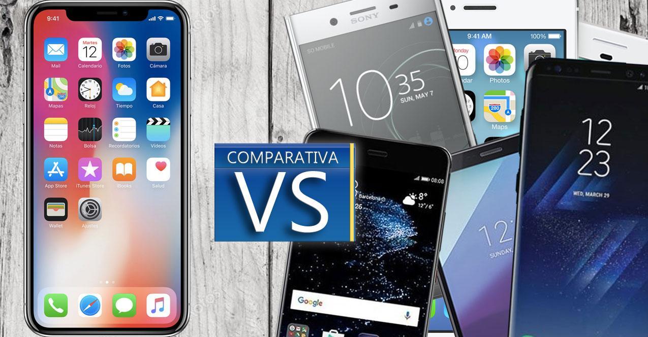 comparativa iphone X