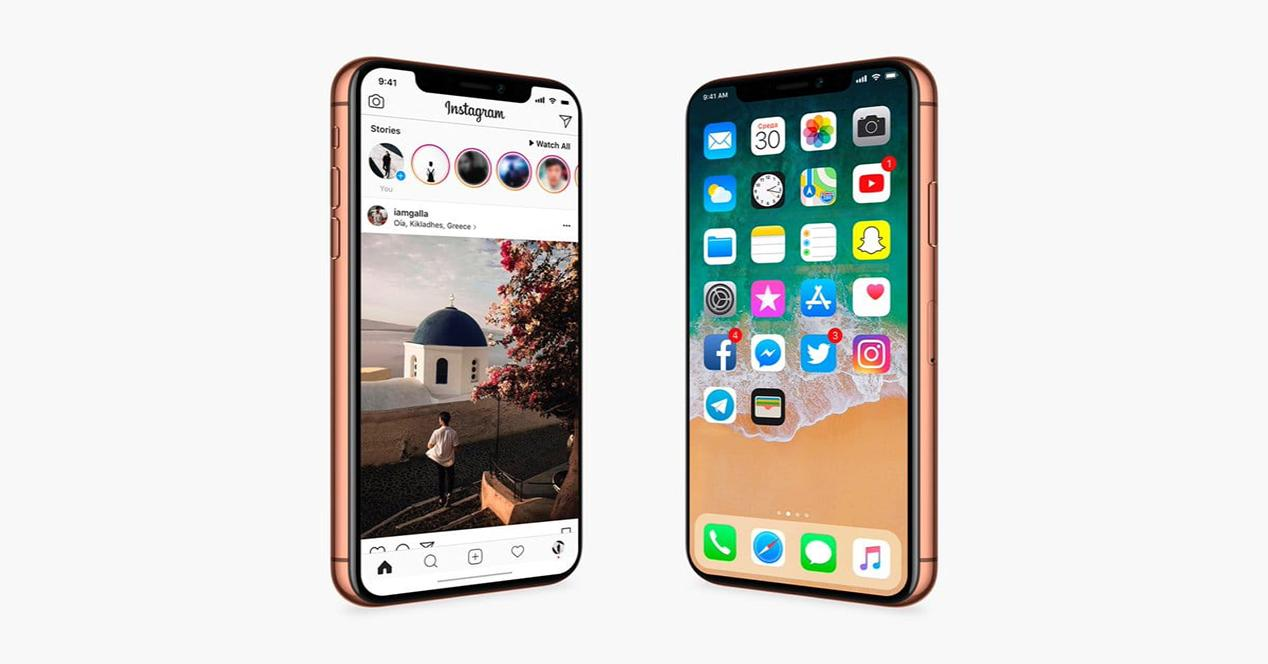 Imágenes del iPhone X con iOS 11
