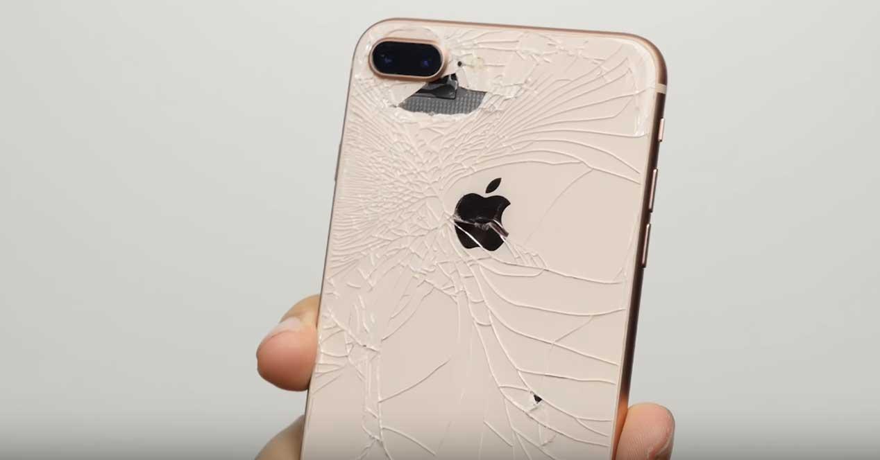 caída del iPhone 8