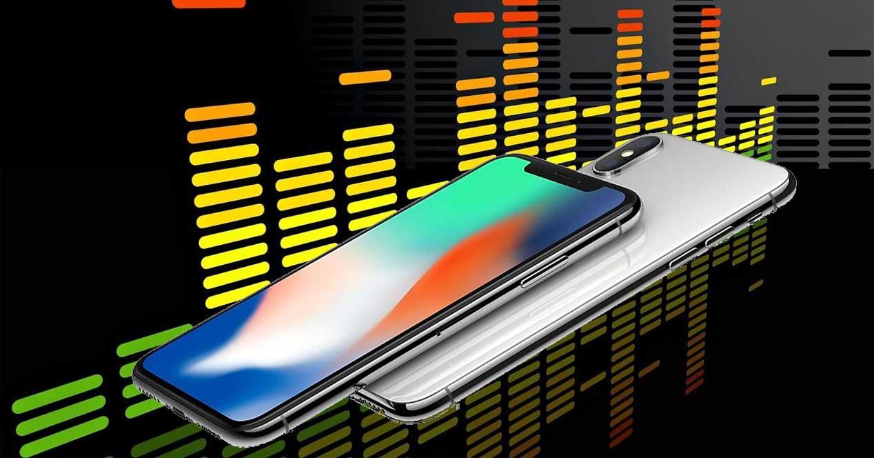 audio del iPhone X