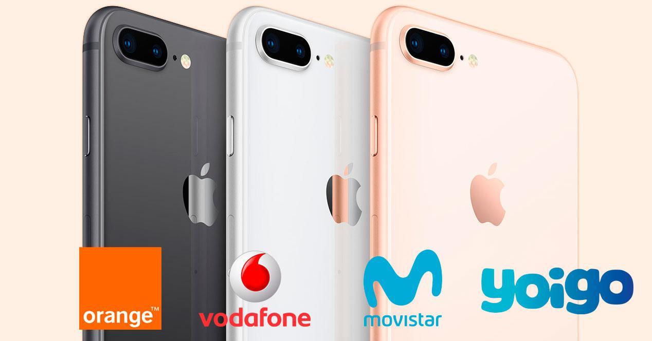 operadores iphone 8