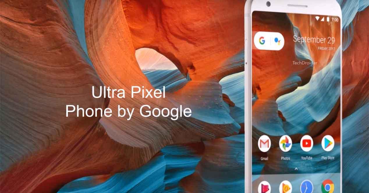 Google Ultra Pixel con pantalla Full Vision
