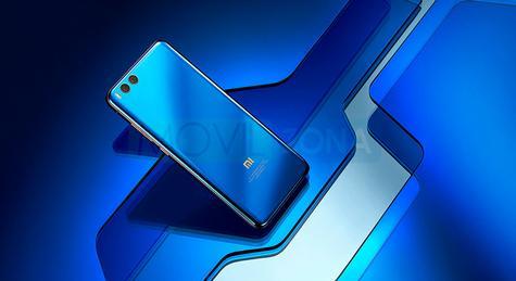 Xiaomi Mi Note 3 azul visa trasera