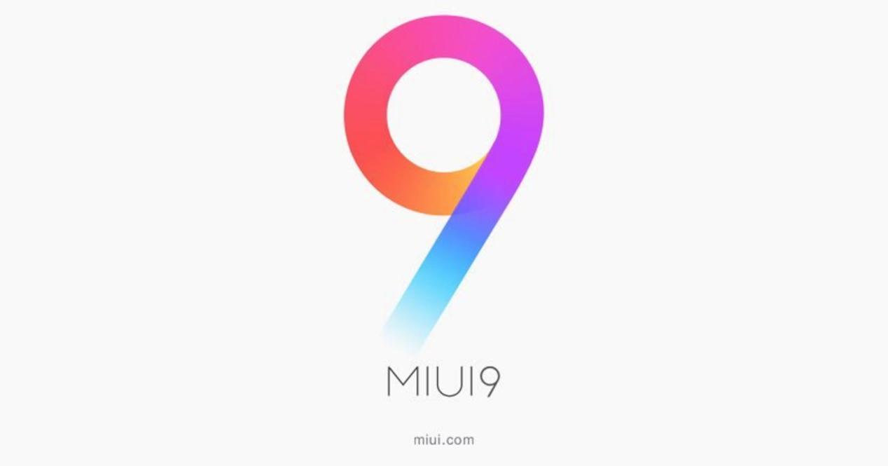 Carátula con el logotipo de MIUI 9