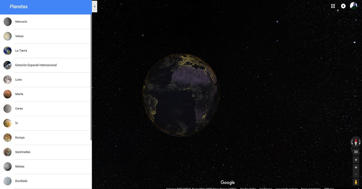 Mapa de la tierra tras la actualización de Google Maps