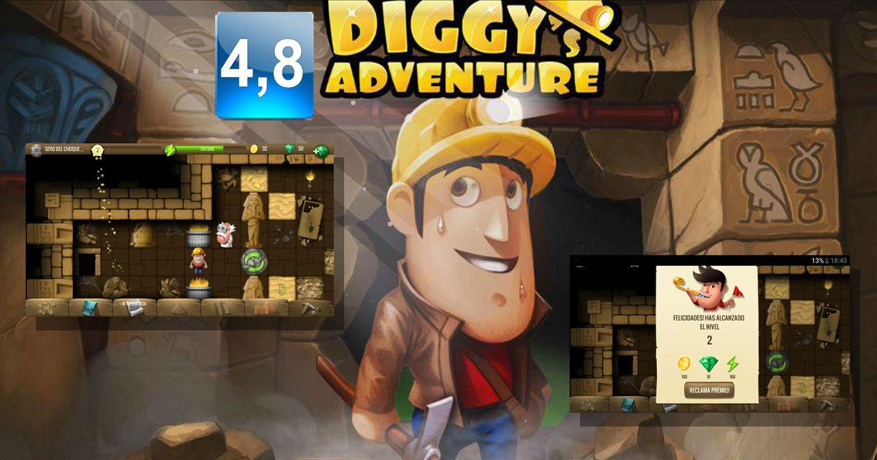 Juego Diggy's Adventure