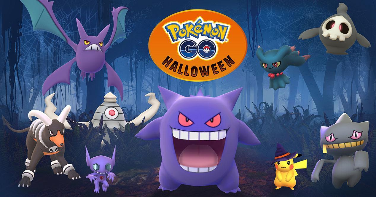Portada del evento en Pokémon Go por Halloween