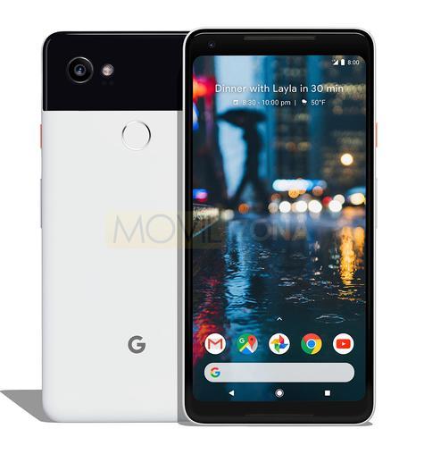 Google Pixel 2 blanco y negro