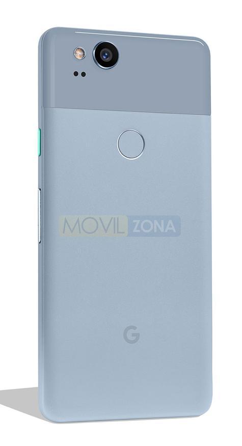 Google Pixel 2 vista lateral trasera