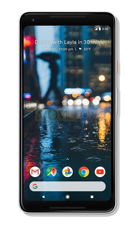 Google Pixel 2 XL negro vista lateral