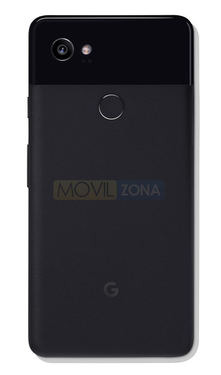 Google Pixel 2 XL negro vista trasera