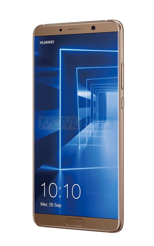 Huawei Mate 10 color dorado vista lateral