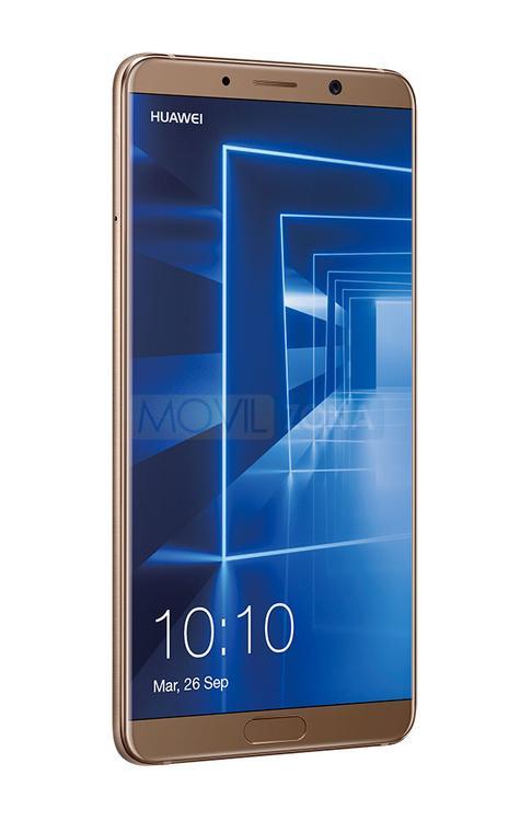Huawei Mate 10 dorado visión lateral