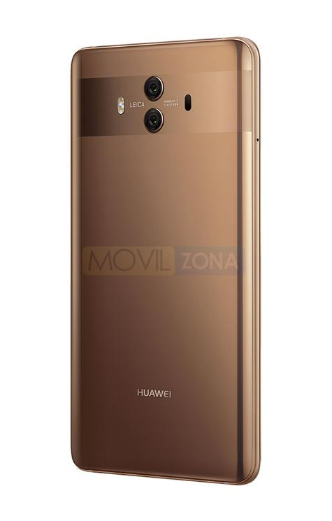 Huawei Mate 10 dorado vista trasera