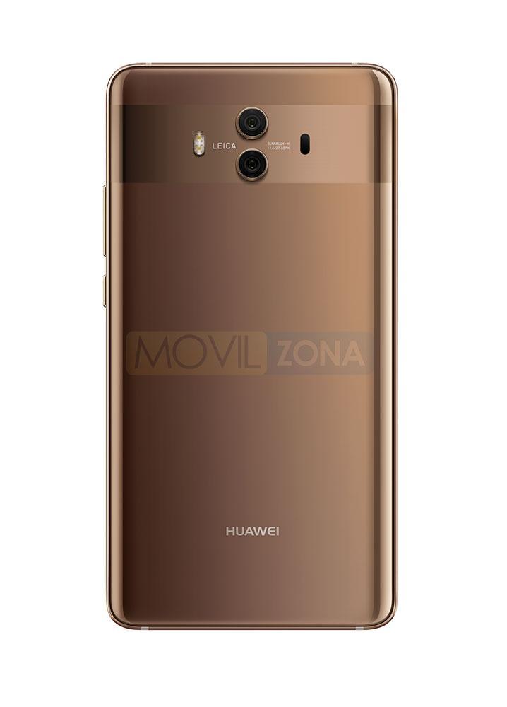 Huawei Mate 10 dorado con doble cámara