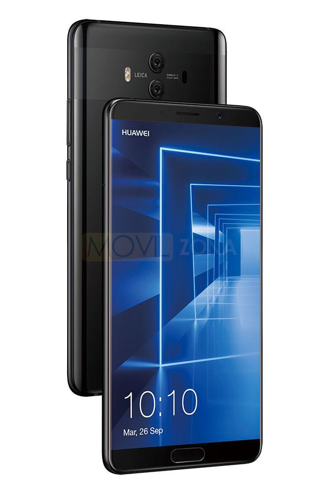 Huawei Mate 10 negro vista delantera y trasrera