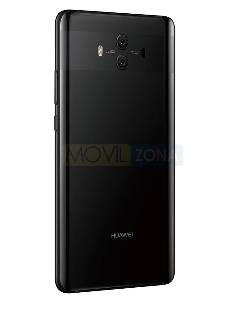 Huawei Mate 10 negro vista de la cámara trasera