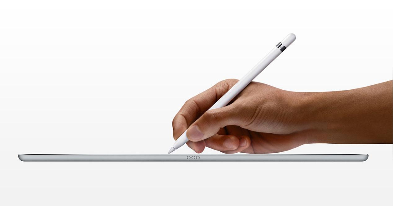usando el Apple Pencil en un iPad Pro