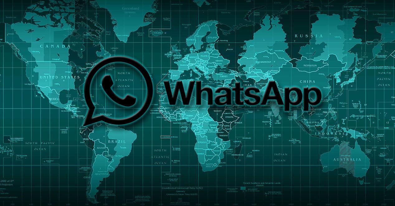 Mapa de la red de WhatsApp