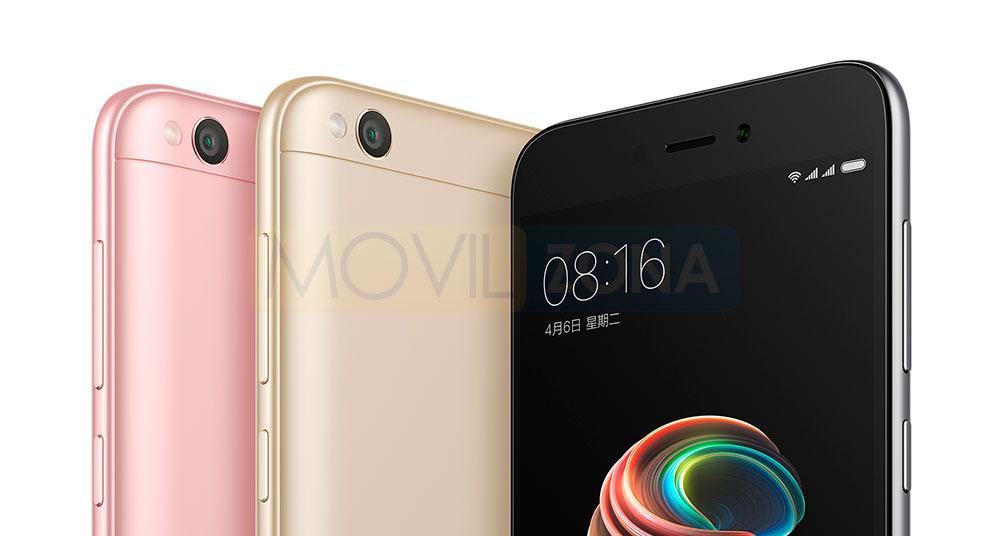 Xiaomi Redmi 5A negro, oro y rosa