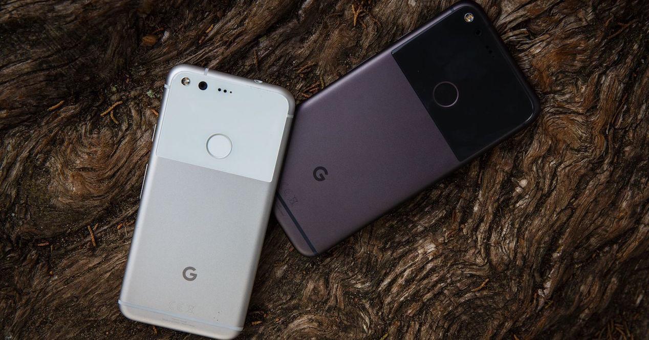 Google Pixel 2 y Pixel 2 XL por detrás