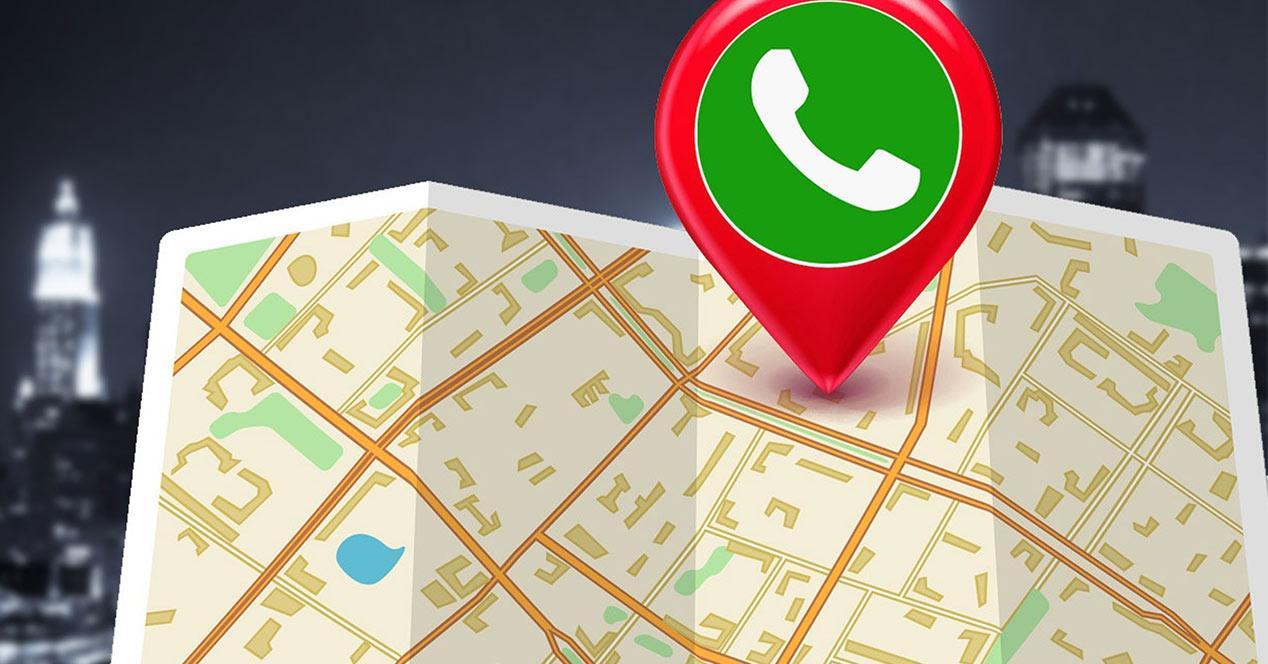 Función de compartir localización con WhatsApp
