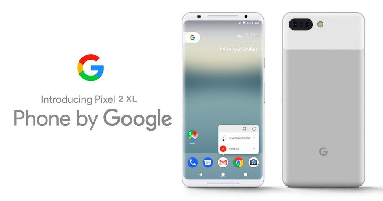 Imagen promocional del Google Pixel 2 XL