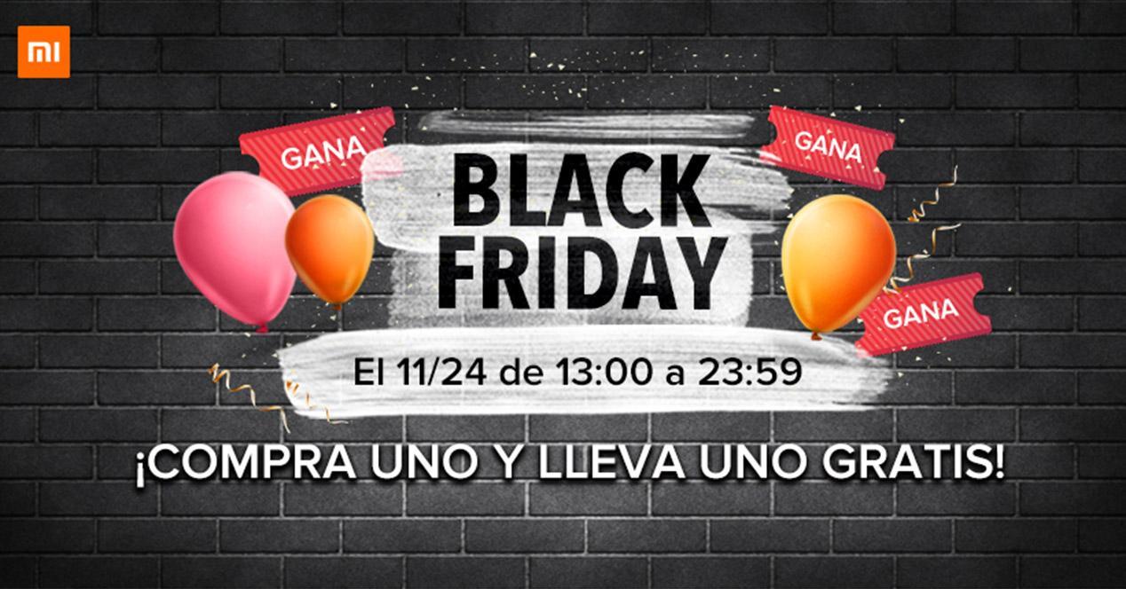 Sorteo para el Black Friday de Xiaomi