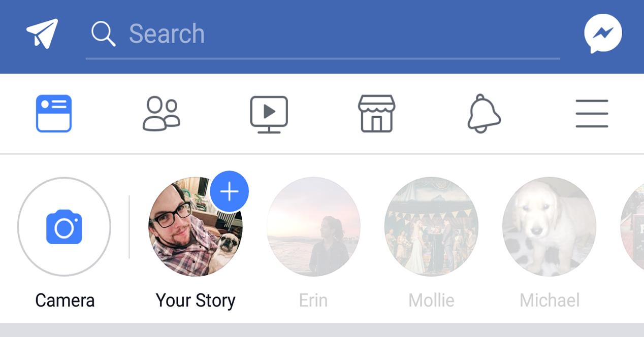 Iniciar historias de Facebook