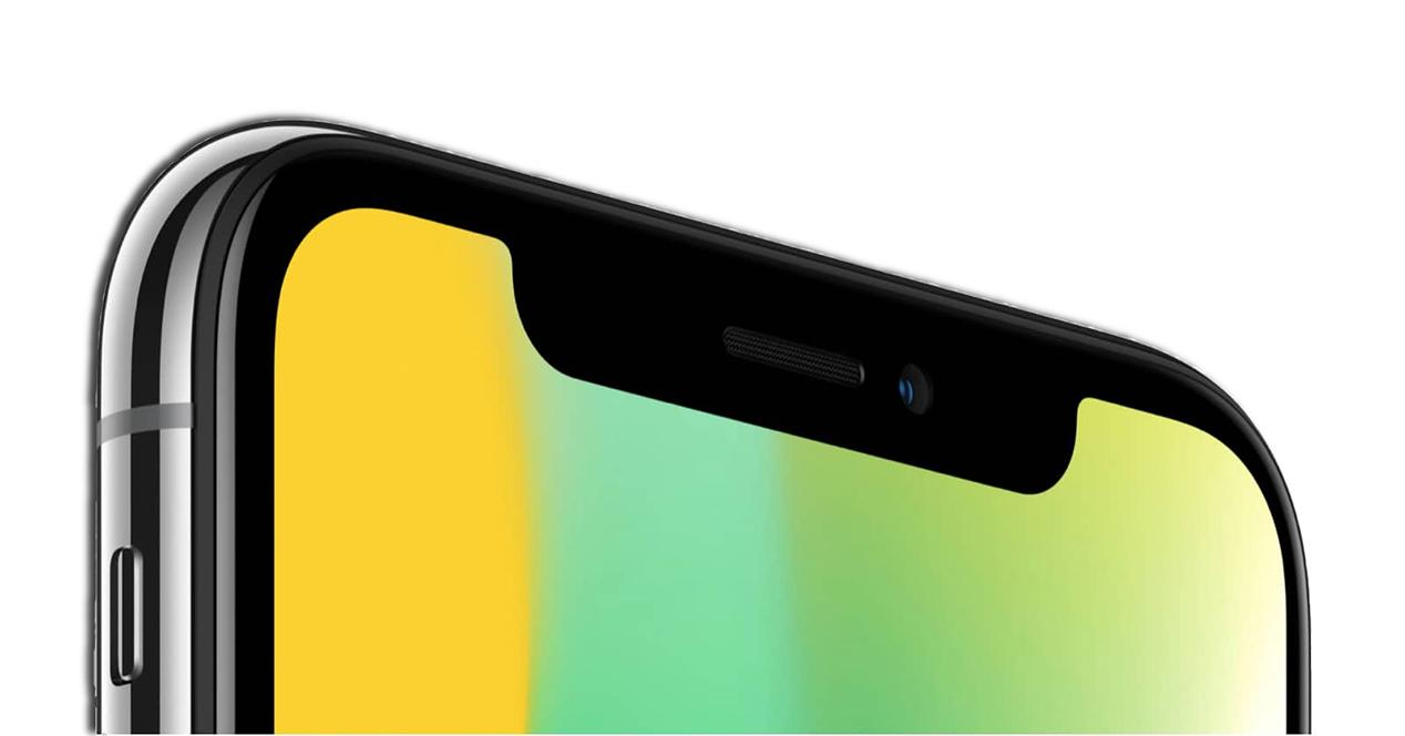 Cámara frontal del iPhone X